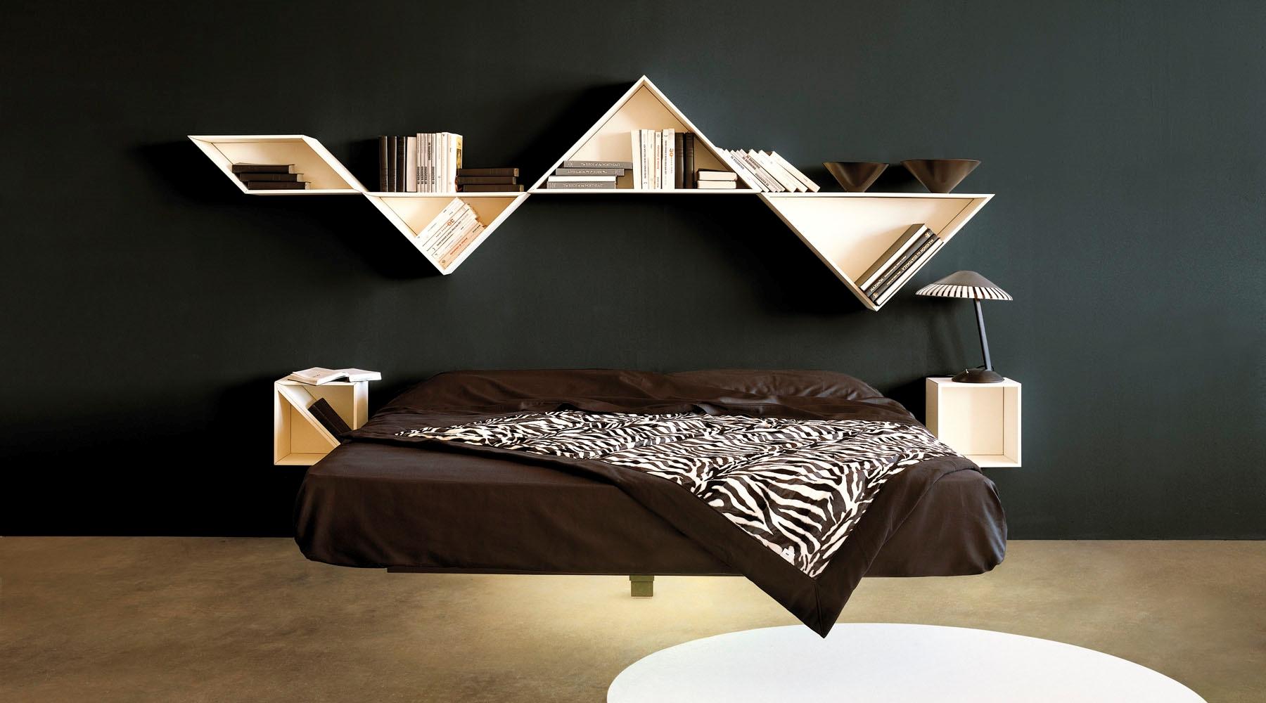 Lago complemento tangram design laccato opaco - Librerie da camera ...