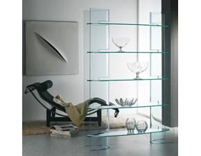 Mensola Artigianale Libreria mod.slalom in vetro curvato scontata del 30% in vetro a prezzo ribassato