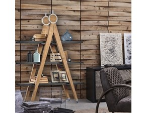 Mensola Etagere Dialma brown in legno in Offerta Outlet