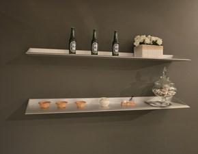 Mensole in alluminio Aico  Interamente in alluminio, progettate per applicazione a parete, in finitura grigio opaco. Offerta Outlet Mobilgross. Scontate del -50%