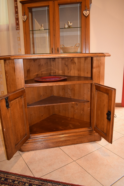 Mobile artigianale angolare in legno porta televisione for Mobile angolare