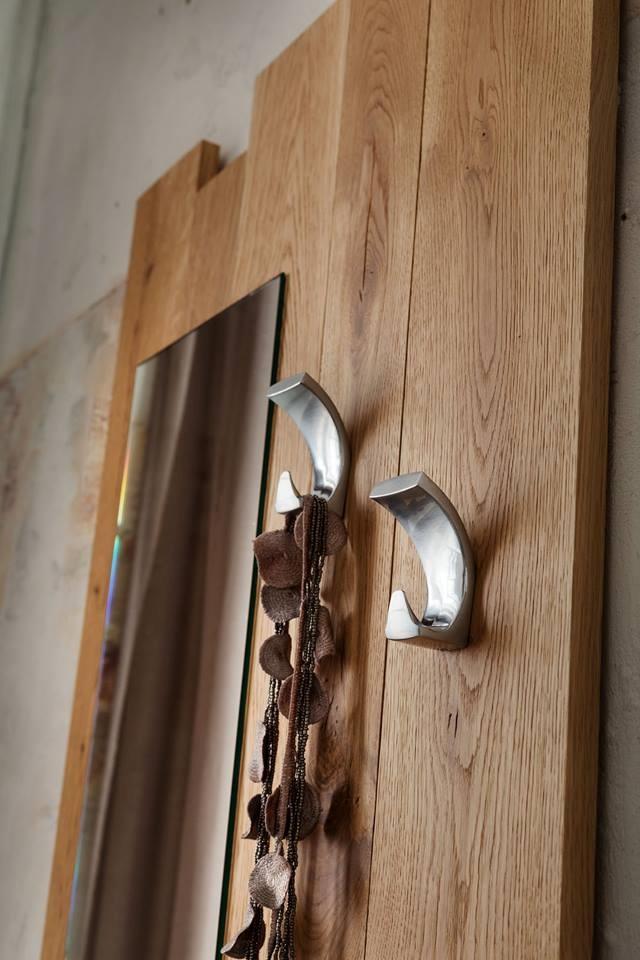 Appendiabiti Massello Rovere Cricket : Specchiera ingresso zoe in rovere massello complementi a