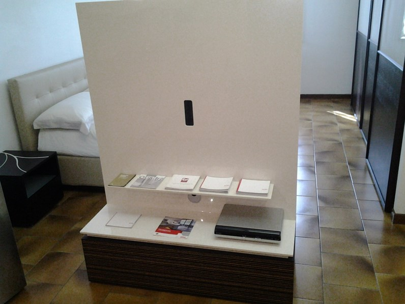 mobile porta tv girevole legno e laccato lucido