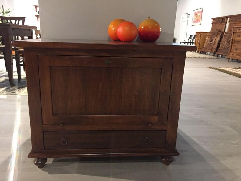 Mobiletto Porta TV Classico con ribaltina in legno massello tinto ...