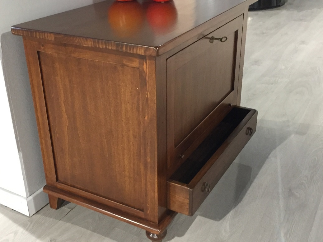 Mobiletto porta tv classico con ribaltina in legno - Porta tv classico ...