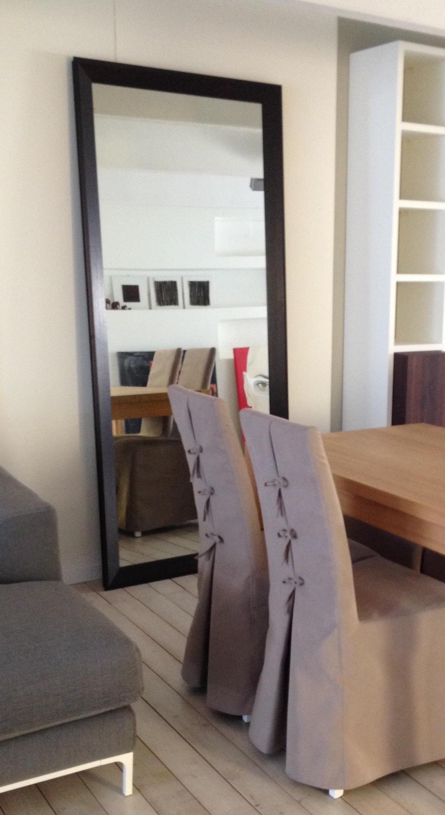 Occasione specchio con cornice in legno weng for Specchio wenge