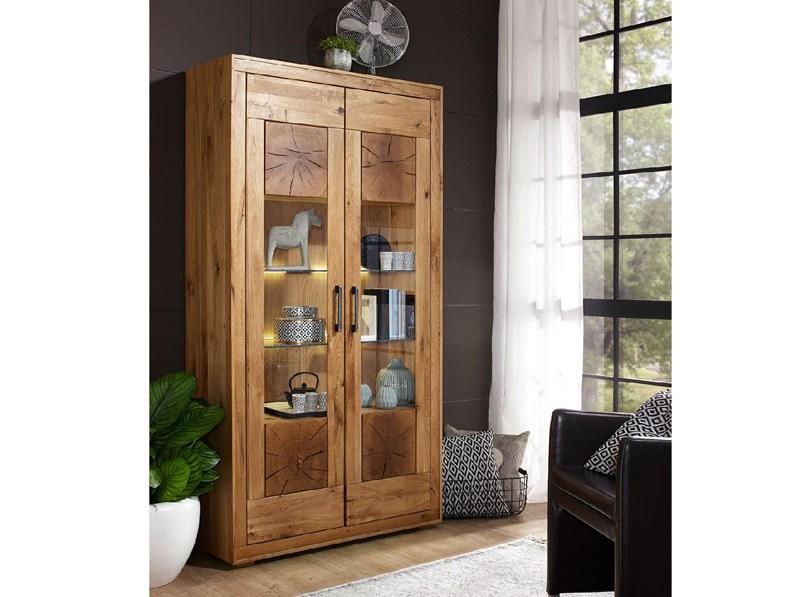 Oggettistica Azalea vetrina legno massello Artigianale SCONTO del 38%