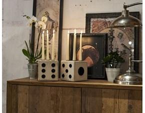 Oggettistica stile Moderno Dialma brown Porta candele DADO  a prezzo ribassato