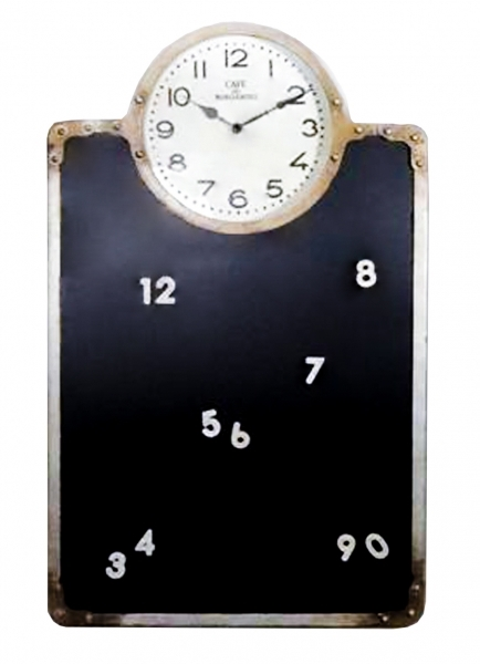 Orologio in stile shabby chic con lavagna complementi a for Lavagna con orologio thun