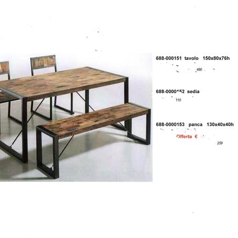 Panca tavolo sedie industriale complementi a prezzi scontati - Tavolo con sedie frozen ...
