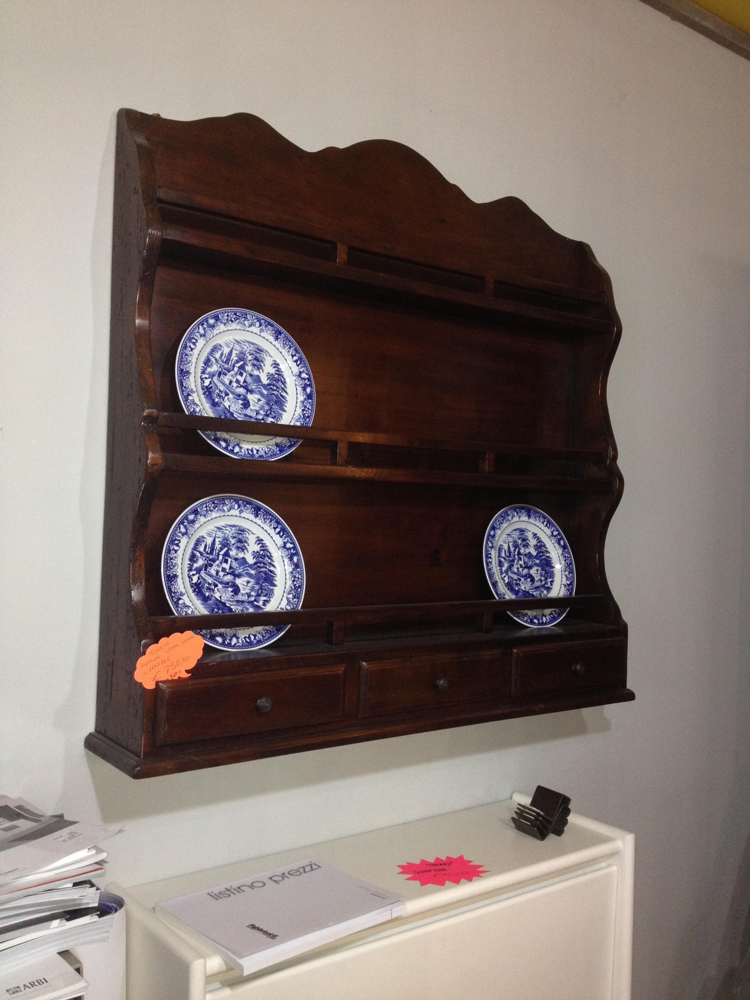 Piattaia in legno vecchio complementi a prezzi scontati for Piattaia design