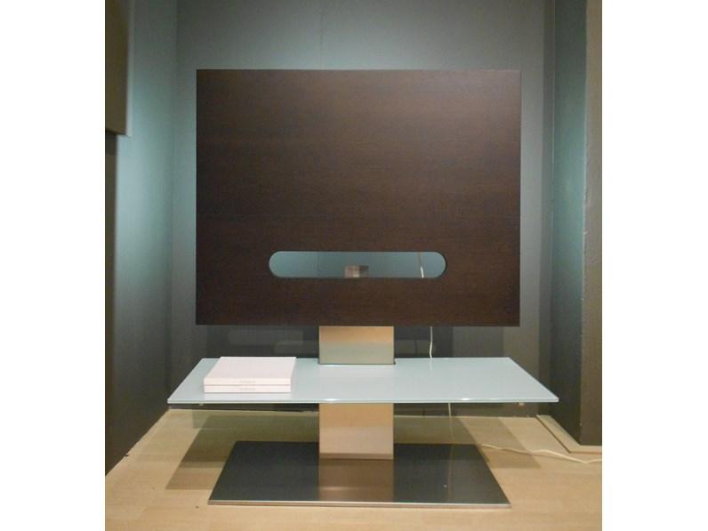 Porta tv Porada Sat 1 di Design in Legno e Vetro -Scontato del -62%