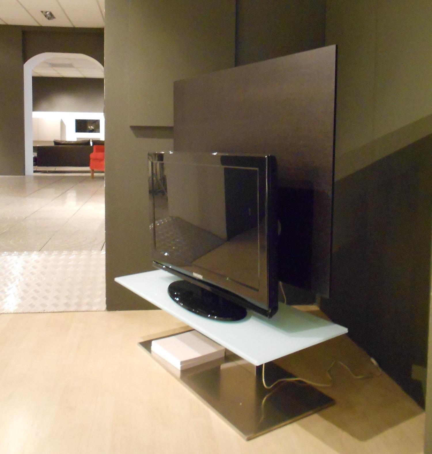 Porta tv porada sat 1 di design in legno e vetro scontato del 62 complementi a prezzi scontati - Porada porta tv ...