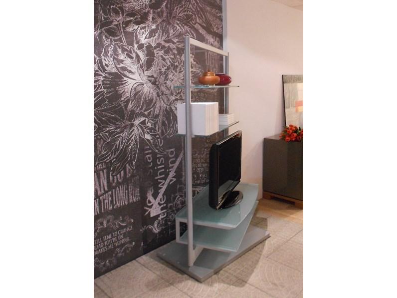 Porta Tv Porada Prezzo.Porada Complemento Ubiqua Design Vetro Portatv Scontato Del 70