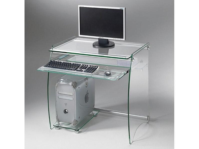 Mobile Porta Tv Cristallo Prezzi.Porta Tv La Seggiola Rack Porta Computer In Vetro In Vetro A