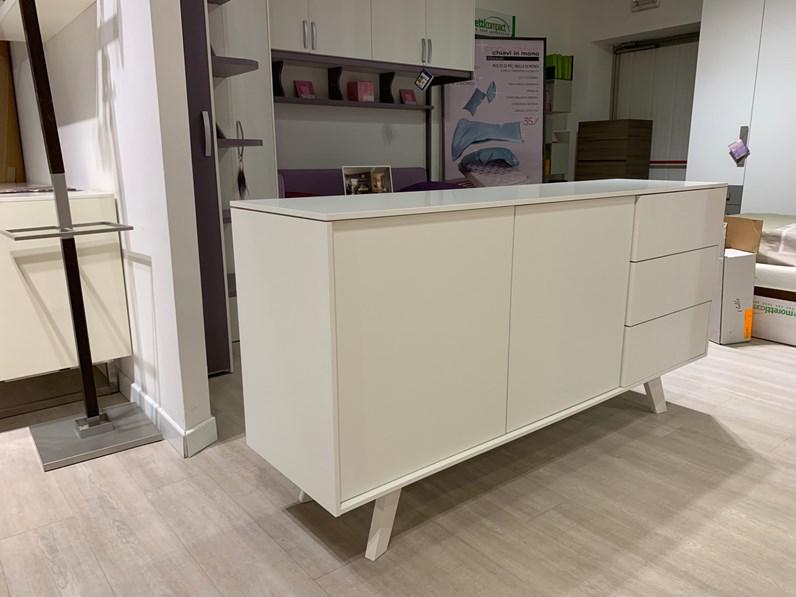 Porta tv Madia calligaris bianco Cucine noventa SCONTO del 44%