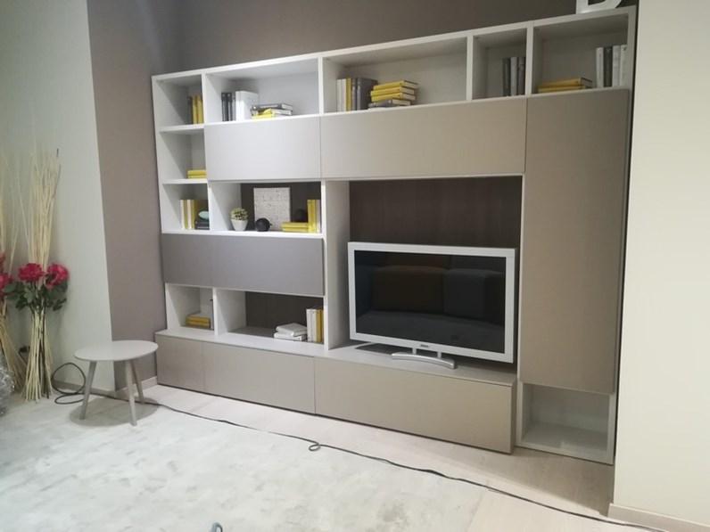 Porta tv Parete attrezzata 520 in stile Moderno Prezioso a prezzo ribassato