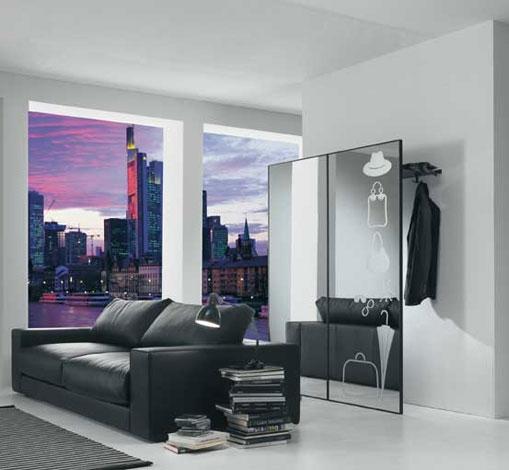 Portabiti con specchiera complementi a prezzi scontati - Appendiabiti da parete con specchio ...