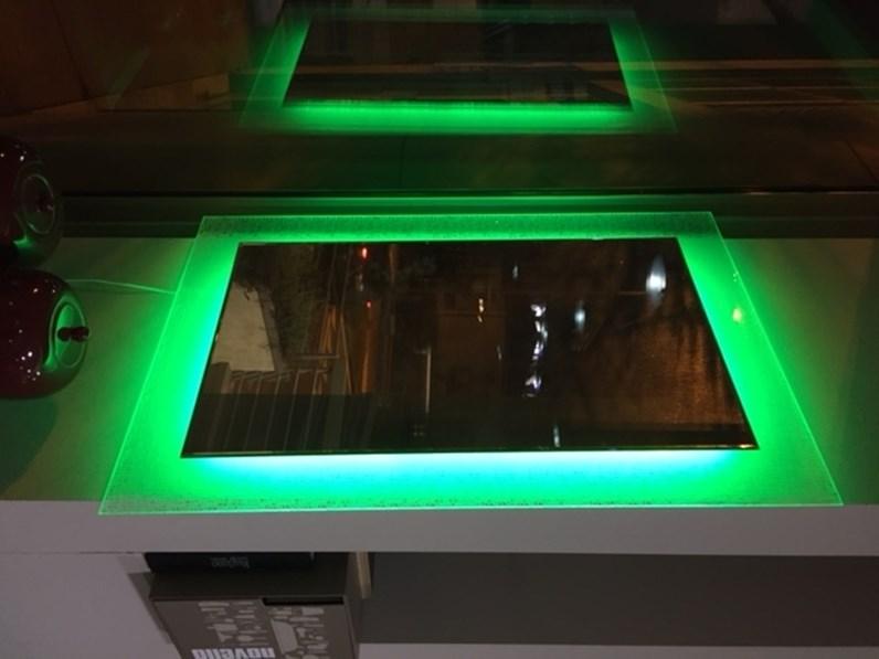 Rgb specchio cornice in vetro fuso decoro ed illuminazione rgb a