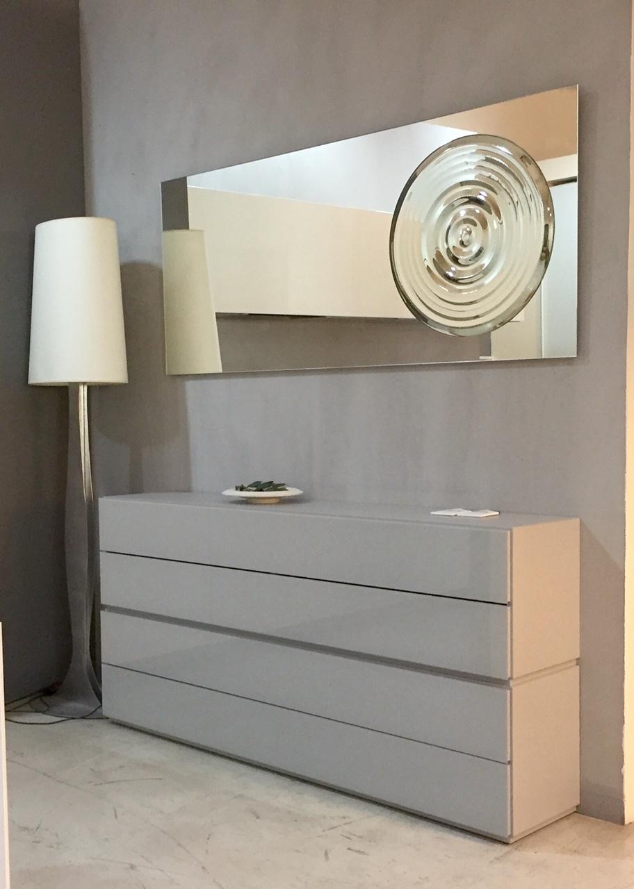 Riflessi complemento drop specchio con fusione centrale sagomata design vetro specchi - Specchi arredo ingresso ...