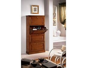 Scarpiere in legno Scarpiera 4 ribalte Artigianale in Offerta Outlet