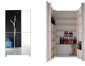 Scarpiere in stile Design in specchio Birex Scarpiera linear