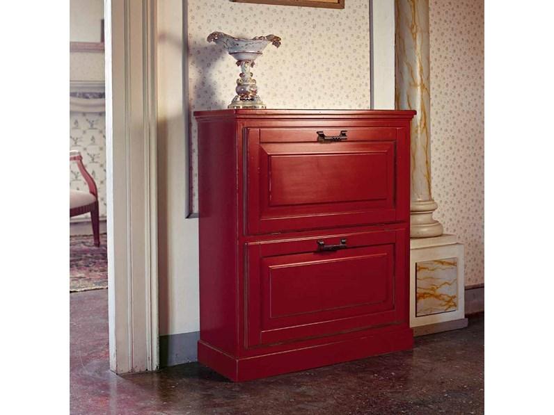 Scarpiere stile Classico Artigianale Scarpiera in legno mottes mobili a  prezzo ribassato