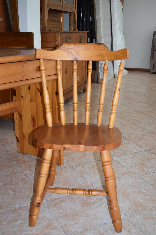scrivania con sedia in legno di pino complementi a