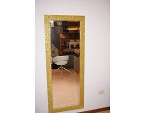 Specchiera Artigianale con brillantini dorata