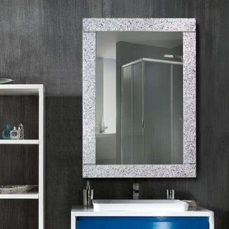 Specchiera biagiotti in graniglia di vetro colore argento for Graniglia di vetro