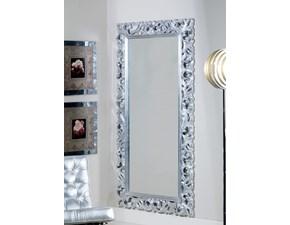 Specchiera Specchiera lunga con cornice in legno intarsiato mottes mobili Artigianale SCONTO del 40%