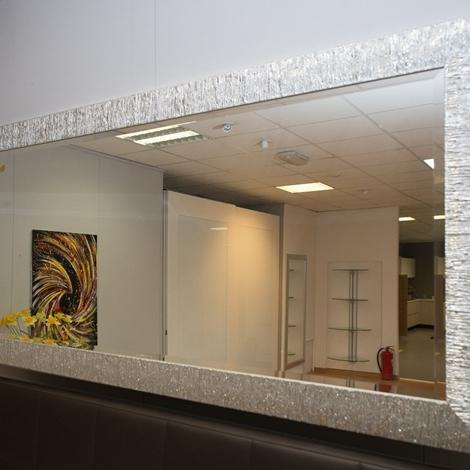 Specchio cornice argento 12201 complementi a prezzi scontati - Specchio argento moderno ...