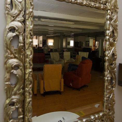 Specchio cornice argento 12203 complementi a prezzi scontati - Specchio con cornice argento ...