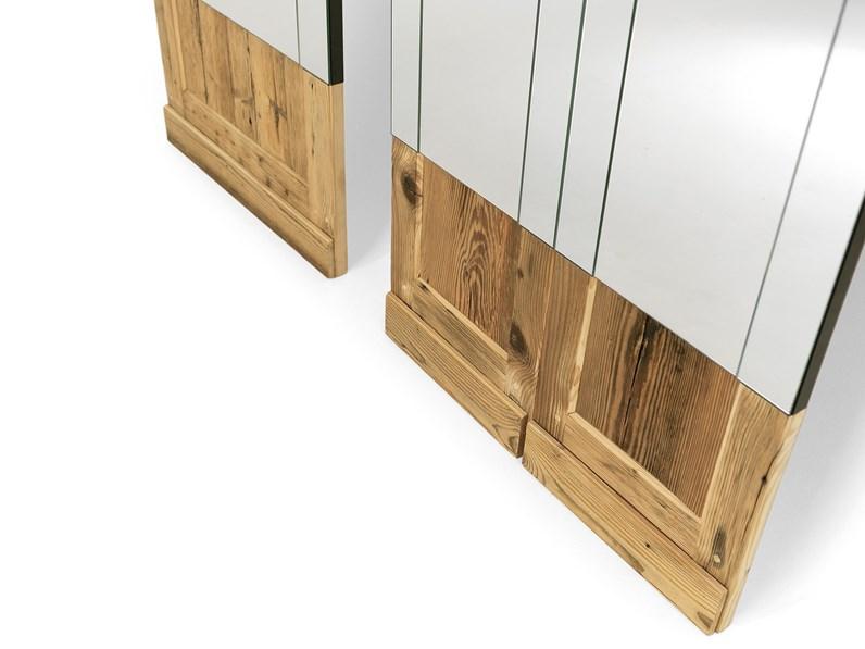 Specchio da parete o appoggio mogg don 39 t open in legno a - Specchio parabolico prezzo ...