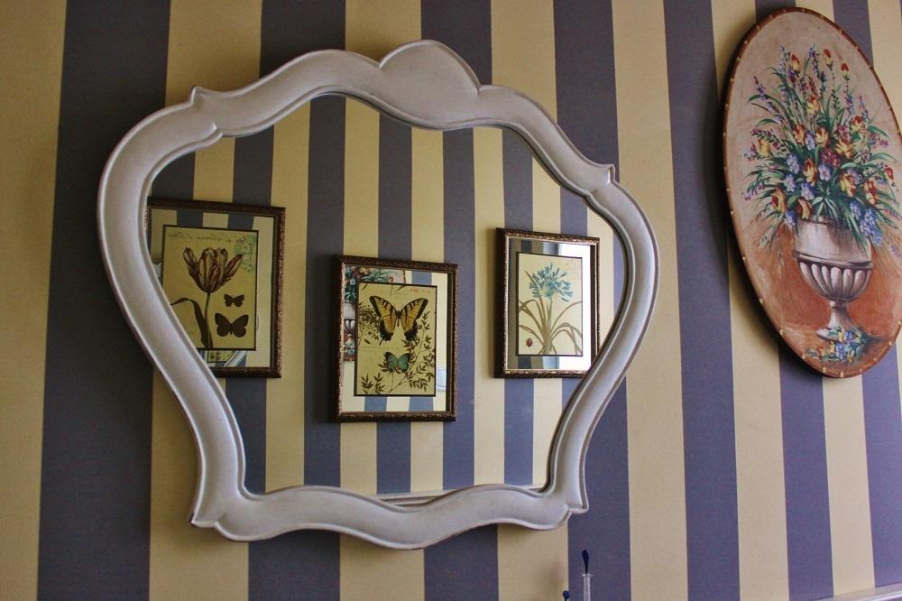 Specchio mod 39 pompei 39 in legno laccato opaco in offerta for Arredamenti pompei