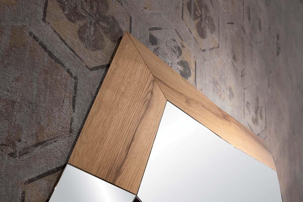 Specchio moderno trixy con pannelli legno complementi a - Specchio moderno ...
