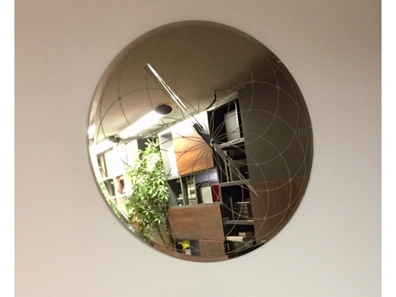 Specchio orologio a parete riflessi modello roma in vetro for Specchio da parete 180 cm
