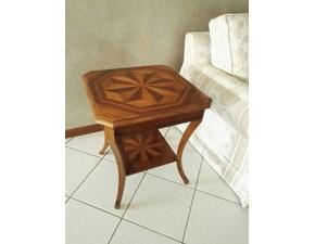 Tavolino Crestan in stile Classico in noce con intarsio a stella