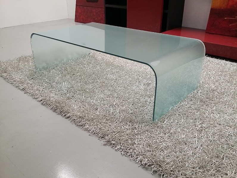 Tavolino Curvo vetro trasparente by Sica