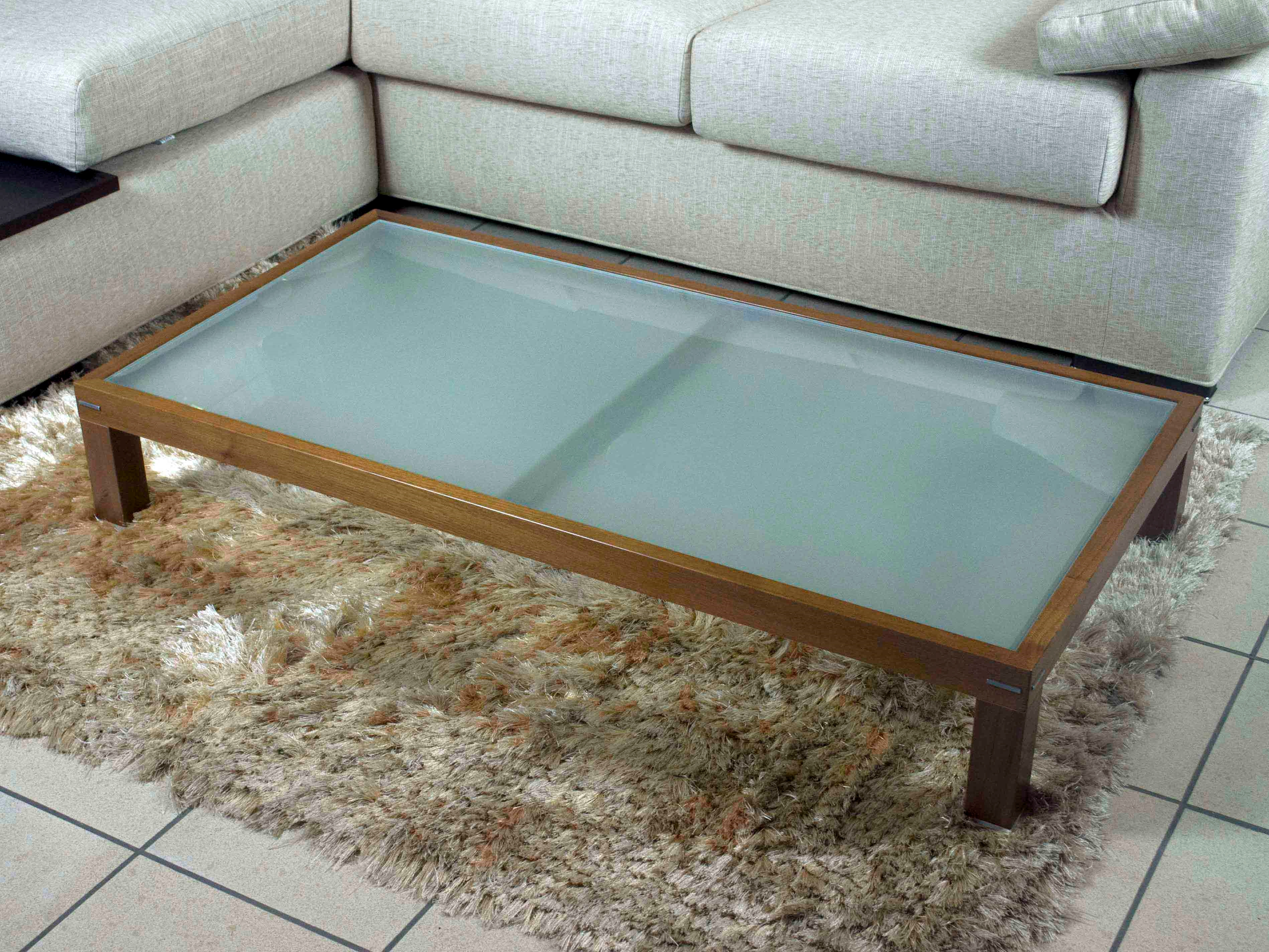 Tavolino da salotto Doimo in legno e vetro scontato - Complementi a ...