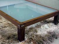 Tavolino da salotto Doimo in legno e vetro scontato