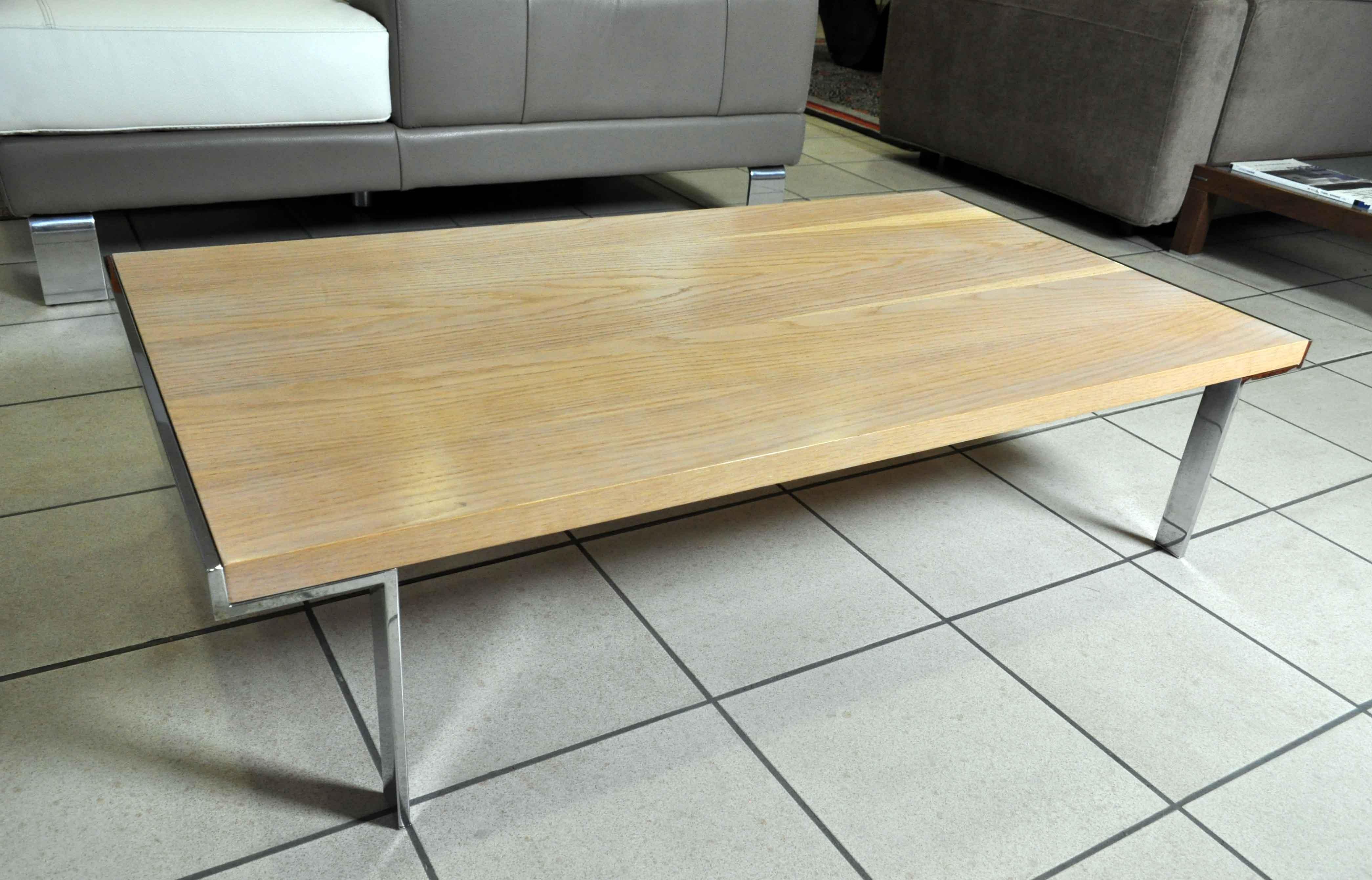 Tavolino da salotto in vero legno e gambe cromate prezzo for Tavolino salotto legno