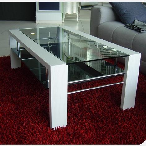 tavolino da salotto vetro e legno : tavolino da salotto legno e vetro scontato del 38 % - Complementi a ...