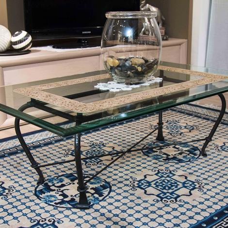 outlet Tavolino ferro battuto e marmo