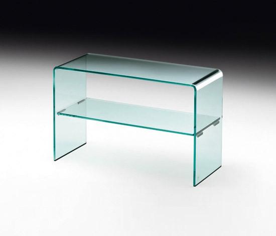 tavolino fiam rialto side in vetro curvato sconto 25. Black Bedroom Furniture Sets. Home Design Ideas