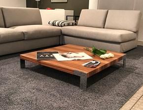 Tavolino modello Liko design in finitura legno zebrano. Il tavolino è dotati di quattro robusti piedini di appoggio realizzati in acciaio cromato. Offerta Outlet Mobilgross. Scontato del - 59%