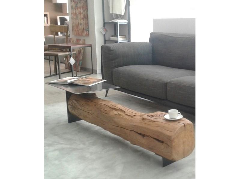 Tavolino In Legno Trave Artigianale A Prezzo Outlet