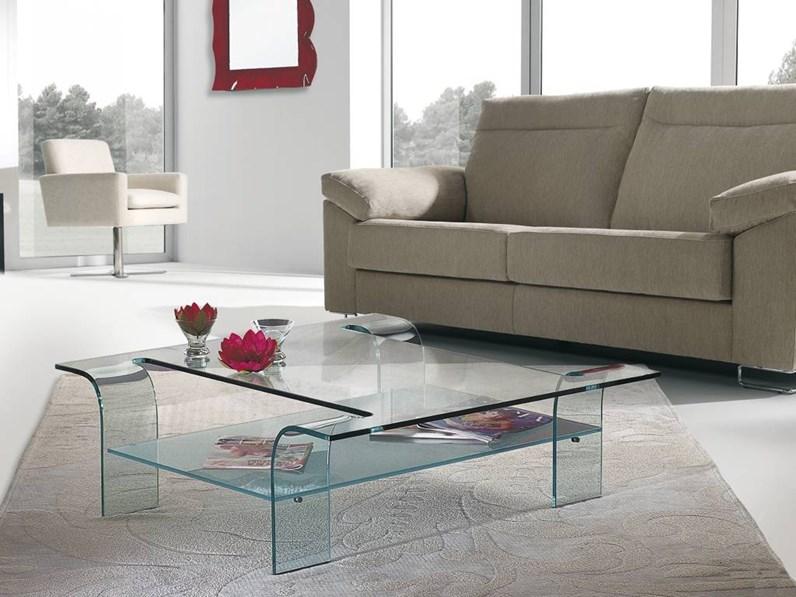 Tavolini Di Vetro Design.Tavolino In Stile Moderno In Vetro Artigianale Tavolino In Vetro