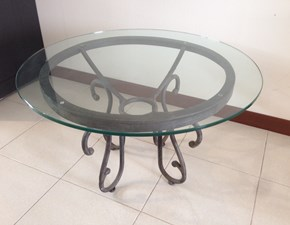Tavolino Salotto Ferro Battuto E Vetro.Tavolino Salotto Piano Cristallo Travertino E Ferro Battuto