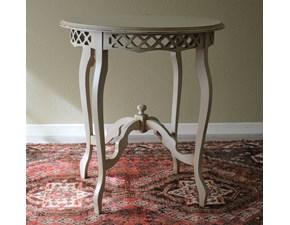 Tavolino modello Provenza  in legno massello di Produzione Artigianale. Il tavolino è rifinito in laccatura Shabby Chic di colore bianco. Scontato del -56%. Offerta Outlet Mobilgross